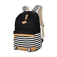 cheap Bags-Women's Bags Canvas Backpack Pattern / Print Blue / Black / Blushing Pink