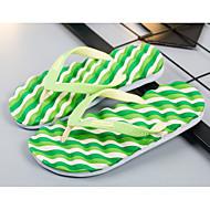 Para Meninos sapatos Pele PVC Inverno Outono Conforto Chinelos e flip-flops Caminhada Pregueado para Casual Roxo Amarelo Vermelho Verde