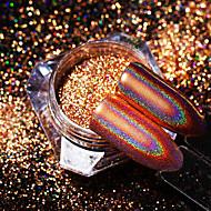 baratos -1pç Brilhante Laser Holographic Glitter Powder Dourada Nail Art Design