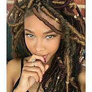 hesapli -Bukle Yumuşak Afrikalı Örgüsü % 100 kanekalon saç Yeni gelen Sentetik Saç 1pack Sahte Locs Saç Örgü Orta