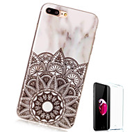 billiga Mobil cases & Skärmskydd-fodral Till Apple iPhone X / iPhone 8 Plus Mönster Skal Marmor Mjukt TPU för iPhone X / iPhone 8 Plus / iPhone 8