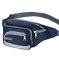 Unissex Bolsas Poliéster Fibra Sintética Bolsa de Cintura Ziper para Casual Todas as Estações Vermelho Rosa Azul Escuro Roxo Azul Céu