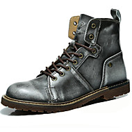 Χαμηλού Κόστους Ανδρικές μπότες-Ανδρικά Fashion Boots Νάπα Leather Φθινόπωρο / Χειμώνας Μπότες Μοτοσυκλετιστή Μπότες Μποτίνια Γκρίζο / Καφέ