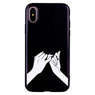 billiga Mobil cases & Skärmskydd-fodral Till Apple iPhone X iPhone 8 Frostat Mönster Läderplastik Skal Sexig kvinna Mjukt TPU för iPhone X iPhone 8 Plus iPhone 8 iPhone 7