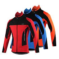 Arsuxeo Cyklo bunda Pánské Jezdit na kole sako Vrchní část oděvu Zima Fleece Cyklistické oblečení Zahřívací Větruvzdorné Anatomický