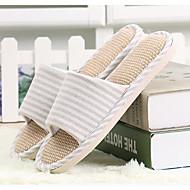 レディース 靴 ポリアミド素材 コットン 冬 コンフォートシューズ スリッパ&フリップ・フロップ フラット のために カジュアル ベージュ ダークブルー グレー レッド