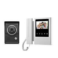 billige Dørtelefonssystem med video-xsl-v43e168-tett skjerm kablet visuell dørklokke 4.3 tommers LCD-skjerm dør telefon intercom system dør låse opp dørklokkekamera