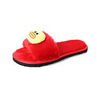 preiswerte -Damen Schuhe Vlies Winter Komfort Slippers & Flip-Flops Runde Zehe für Schwarz Grau Rot Rosa
