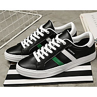 billige -Herrer Sko PU Forår Efterår Komfort Sneakers for Afslappet Sort Lyserød og Hvid Hvid og Grøn