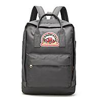 billige Skoletasker-Unisex Tasker Oxfordtøj rygsæk Lynlås for Afslappet Grå / Vin / Kakifarvet