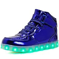 tanie Obuwie dziewczęce-Dla dziewczynek Obuwie Skóra patentowa / Materiał do wyboru Wiosna / Zima Wygoda / Świecące buty Tenisówki Spacery Szurowane / Haczyk i pętelka / LED na Srebrny / Niebieski / Różowy