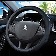 Potahy na volant Pravá kůže 38 cm Vodní modrá / Černá / Černá / červená Pro Peugeot 307 / 301