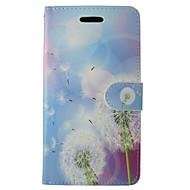 billiga Mobil cases & Skärmskydd-fodral Till Huawei P8 Lite Korthållare Plånbok med stativ Lucka Blomma Maskros Hårt PU läder för Huawei