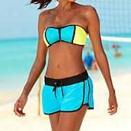 Per donna Sensuale Con bretelline Nero Arancione Fucsia Bikini Costumi da bagno - Tinta unica Schiena scoperta M L XL