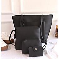 Mulheres Bolsas PU Conjuntos de saco Conjunto de bolsa de 4 pcs Ziper para Ao ar livre Rosa / Cinzento / Marron