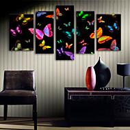 billiga Väggkonst-Kanvas Tryck Moderna, Fem paneler Duk Vertikal Tryck väggdekor Hem-dekoration
