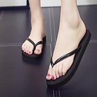baratos Sapatos Femininos-Mulheres Couro Ecológico Verão Conforto Chinelos e flip-flops Sem Salto Ponta Redonda Dourado / Preto / Cinzento