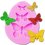 billige Bakeredskap-3 hulrom butterfly silikon kake mold soap godteri sjokolade is kake verktøy