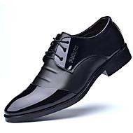 abordables Oxfords pour Homme-Homme Chaussures Formal Polyuréthane Printemps / Eté Business Oxfords Noir / Marron