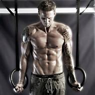 tanie Sprzęt i akcesoria fitness-KYLINSPORT Kółka gimnastyczne Z 23 cm Średnica Tworzywo ABS Regulowany, Olimpijski, Mocny Crossfit, Podciąganie, Siła ramion, Wzmocnienie całego ciała Dla Joga / Fitness / Siłownia