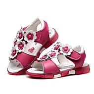 baratos Sapatos de Menina-Para Meninas Sapatos Couro Verão Conforto / Primeiros Passos Sandálias Flor / Velcro para Branco / Pêssego / Rosa claro