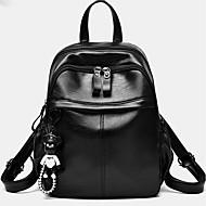 お買い得  バックパック-女性用 バッグ PU バックパック ジッパー のために カジュアル 春 秋 ブラック