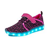 tanie Obuwie dziewczęce-Dla dziewczynek Buty Tiul Materiał do wyboru Wiosna Lato Świecące buty Comfort Buty do lekkiej atletyki Bieganie LED Haczyk i pętelka