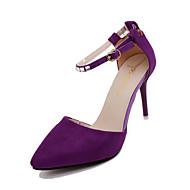 baratos -Feminino Sapatos Couro Ecológico Primavera Verão Conforto Gladiador Sandálias Sem Salto Dedo Aberto Pedrarias Pérolas Sintéticas Presilha