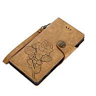 billiga Mobil cases & Skärmskydd-fodral Till Sony Z5 Sony Xperia XZ1 Xperia XA1 Korthållare Plånbok med stativ Lucka Magnet Mönster Fodral Blomma Hårt PU läder för Sony