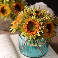 Umjetna Cvijeće 6 Podružnica Retro Suncokreti Cvjeće za stol