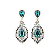 Žene Viseće naušnice Kristal Umjetno drago kamenje Ležerne prilike Moda Kristal Imitacija dijamanta Legura Ispustiti Jewelry Dnevno