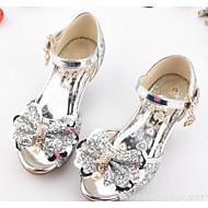 baratos Sapatos de Menina-Para Meninas Sapatos Glitter Verão Conforto / Sapatos para Daminhas de Honra Sandálias para Prata / Azul / Rosa claro