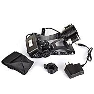 billige -ANOWL LS1188 Pandelamper LED 1800lm 3 Lys Tilstand med oplader Bærbar / Professionel Camping / Vandring / Grotte Udforskning / Dagligdags