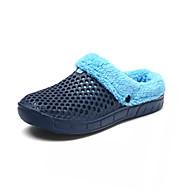 お買い得  メンズクロッグ&ミュール-男性用 靴 PUレザー 夏 ライト付きソール 下駄とミュール ウォーキング リベット のために カジュアル ブラック Brown ブルー
