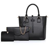 cheap Bags-Women's Bags PU Bag Set 3 Pcs Purse Set Zipper for Office & Career Black / Blushing Pink / Beige