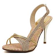 abordables -Mujer Zapatos PU Primavera Verano Confort Sandalias Tacón Stiletto para Casual Dorado