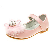 baratos Sapatos de Menina-Para Meninas Sapatos Couro Ecológico Primavera Verão Conforto / Inovador / Sapatos para Daminhas de Honra Rasos Pedrarias / Penas /