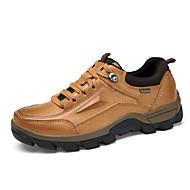 baratos Sapatos Masculinos-Homens Sapatos Confortáveis Pele Napa Todas as Estações Tênis Aventura Castanho Claro / Castanho Escuro