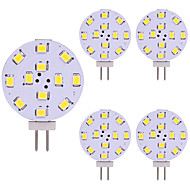 baratos Luzes LED de Dois Pinos-5pçs 2W 180lm G4 Luminárias de LED  Duplo-Pin 12 Contas LED SMD 2835 Luz LED Branco Quente Branco Frio 12V