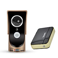 billige Dørtelefonssystem med video-denimini wf-doorbell-golden-i smart trådløs video goorbell bevegelsesdeteksjon infrarød nattvisjon gull