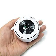 billige Innendørs IP Nettverkskameraer-hqcam® hd 1080p 180deg panorama mini kamera trådløs fisheye ip kamera p2p sikkerhet wifi kamera fat