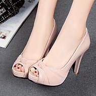baratos Sapatos Femininos-Mulheres Sapatos Couro Ecológico Primavera / Verão Conforto / Inovador Saltos Salto Agulha Peep Toe Bege / Cinzento / Rosa claro