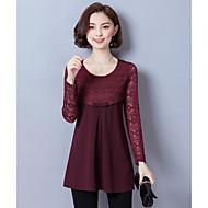 Bluza Ženske,Vintage Dnevno Jednobojni-Dugi rukav Okrugli izrez Poliester