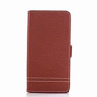 billiga Mobil cases & Skärmskydd-fodral Till Sony Xperia XA Ultra Sony Sony Xperia XA Xperia XA1 Ultra Xperia XA1 Korthållare Plånbok med stativ Lucka Fodral Ensfärgat