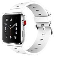 billiga Smart klocka Tillbehör-Klockarmband för Apple Watch Series 3 / 2 / 1 Apple Sportband Klassiskt spänne Silikon Handledsrem