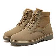 Herrn Schuhe Leder Frühling Herbst Komfort Sneakers Walking Niete für Normal Schwarz Khaki