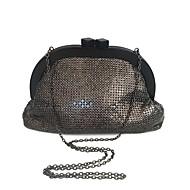 baratos Clutches & Bolsas de Noite-Bolsas Acrílico / Metal Bolsa de Mão Lantejoulas para Festa / Eventos Preto / Cinzento