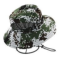 Hiking Hat Sun Hat UV Resistant Cap Hat Camo UV Resistant Spring Summer Green Blue Camouflage Unisex Hunting Fishing Outdoor Exercise Camo / Cotton