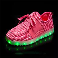 halpa -Poikien kengät Tekonahka Talvi Kesä Välkkyvät kengät Lenkkitossut LED varten Häät Urheilullinen Kausaliteetti Juhlat Puku Musta Punainen
