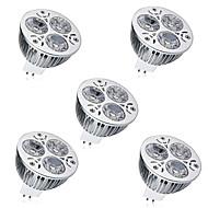 halpa -5pcs 6 W 450 lm MR16 LED-kohdevalaisimet 3 LED-helmet Teho-LED Koristeltu Lämmin valkoinen / Kylmä valkoinen 12 V / 5 kpl / RoHs